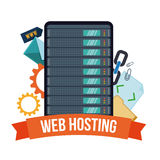 Web hosting design. Stock Photography