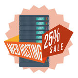 Web hosting design. Stock Photos