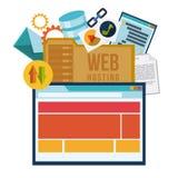 Web hosting design. royalty free illustration