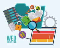 Web hosting design. Royalty Free Stock Images