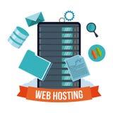 Web hosting design. stock illustration