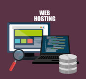 Web hosting and design Royalty Free Stock Images
