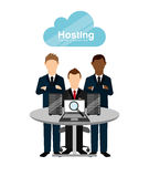 Web hosting design Royalty Free Stock Images