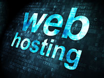 Web Hosting on digital background Royalty Free Stock Image