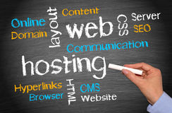 Web-Hosting-Geschäfts-Konzept Lizenzfreie Stockbilder