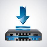 Web Hosting icon. Technology design. Vector graphic Royalty Free Stock Photos