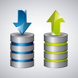 Web Hosting icon. Technology design. Vector graphic Stock Photos
