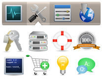 Web Hosting Icons Royalty Free Stock Photos