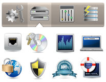 Web Hosting Icons Stock Photo
