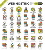 Web hosting icons Royalty Free Stock Photography