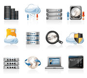 Web Hosting Icons Stock Images