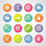 Web hosting icons Stock Photography