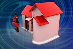 Web-Hosting-Illustration der Frau 3D Stockbilder