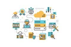 Web hosting illustration Royalty Free Stock Images