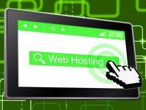 Web Hosting Indicates Internet Webhosting And Server Stock Photo