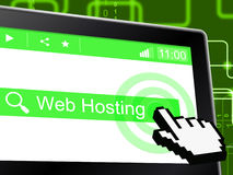 Web Hosting Means Server Webhost And Www Stock Images