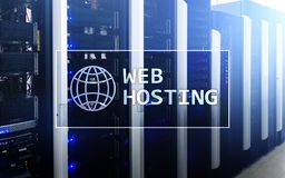 Web Hosting, providing składową przestrzeń i dostęp dla stron internetowych obrazy royalty free