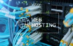 Web Hosting, providing składową przestrzeń i dostęp dla stron internetowych obrazy stock