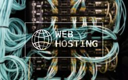 Web Hosting, providing storage space and access for websites.  Stock Photography