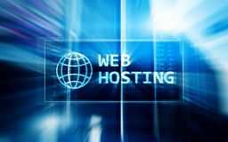 Web Hosting, providing storage space and access for websites.  Royalty Free Stock Photos