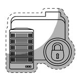 Web hosting related file lock Stock Photos