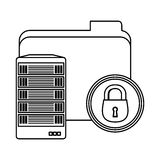Web hosting related file lock Stock Photography