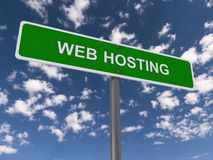 Web hosting road sign Stock Image
