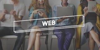 Web Hosting rozwoju networking Podłączeniowy pojęcie obraz stock