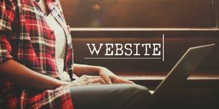 Web Hosting rozwoju networking Podłączeniowy pojęcie Obraz Royalty Free