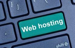 Web hosting słowa na komputerowej klawiaturze Obrazy Stock