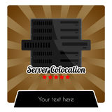 WEB HOSTING SERIES - SERVER COLOCATION TEMPLATE royalty free stock images