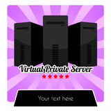 WEB HOSTING SERIES - VIRTUAL PRIVATE SERVER VPS TEMPLATE Stock Photography