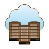 Web hosting server banner icon Royalty Free Stock Image