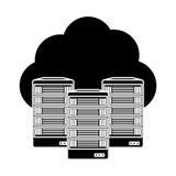 Web hosting server banner icon Royalty Free Stock Photos