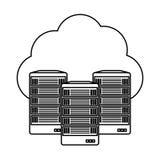 Web hosting server banner icon Stock Photo