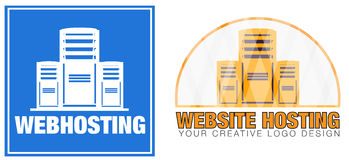 Web Hosting Server Company Logo Stock Photo