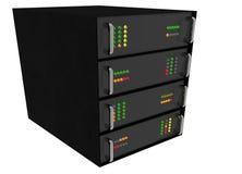 Web Hosting Server Rack on white Stock Images