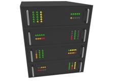 Web Hosting Server Rack on white Stock Image