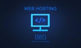 Web Hosting Server Website User System Concept Royalty Free Stock Images