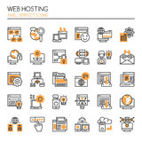 Web Hosting. Thin Line and Pixel Perfect Icons Stock Image
