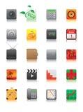 Web icon. Vector illustration of web icons on white background Royalty Free Stock Photo