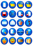 The web icon. Vector image. 20 buttom stock illustration