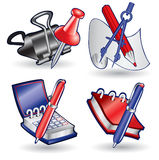Web icon book note binder clip Royalty Free Stock Image