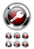 Web icon, button set. Royalty Free Stock Photos