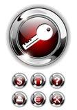 Web icon, button set. Web icon, button set realistic vector illustration Royalty Free Stock Photos