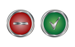 Web icon button yes or no. Isolated vector Royalty Free Stock Photography