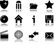 Web Icon Buttons Collection Royalty Free Stock Photo
