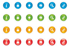 Web Icon Buttons Stock Image
