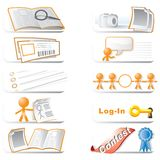 Web icon clip art collection. Collection of clip art related to photography and websites Royalty Free Stock Photography