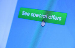 Web Icon. Close up of web Icon on LED screen Royalty Free Stock Photos